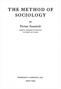 The Method of Sociology